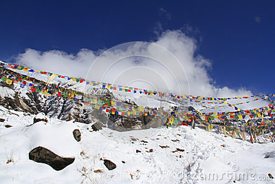 Buddhist prayer flags in ABC