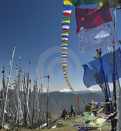 Buddhist Prayer Flags - Kingdom of Bhutan