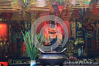Buddhist prayer joss sticks