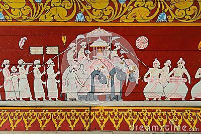 Buddhist sacred ritual procession