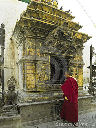 Buddhist Shrine - Kathmandu - Nepal Editorial Stock Photo