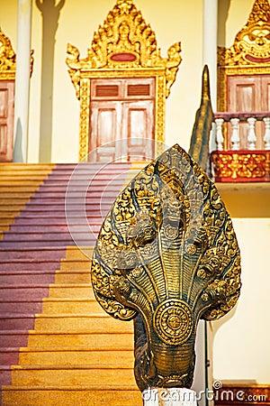 Buddhist snake statue