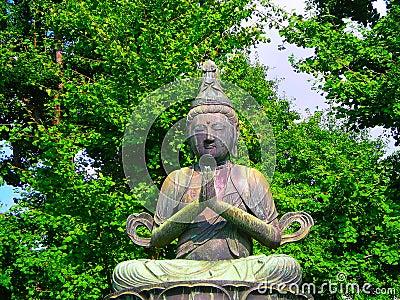 Buddhist Statue in Tokyo