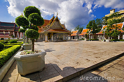 Buddhist temple in Bangkok.