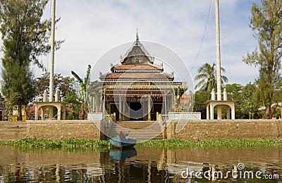 Buddhist Temple, Kampong Phluk, Cambodia