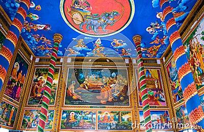 Buddhist Temple, Kratje,  Cambodia