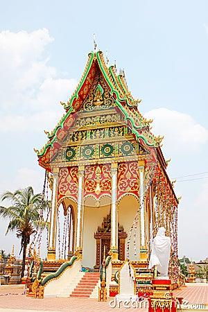 Buddhist temple in Laos.