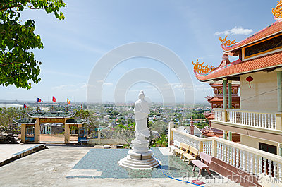 Buddhist temple in Vietnam Editorial Image