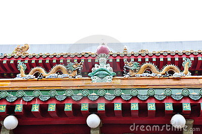 Buddhist temple rooftop