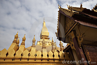 Buddhist temple in Vientiane, Laos