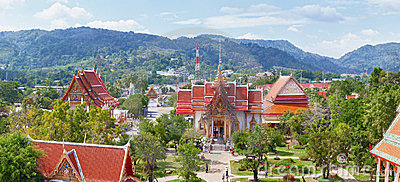 Buddhist Temple Wat Chalong, Thailand, Phuket Stock Photo - Image: 23542340