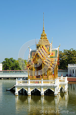 Buddhist temple on water in Thailand