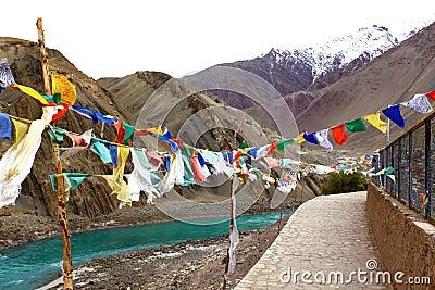 Buddhist wish flags