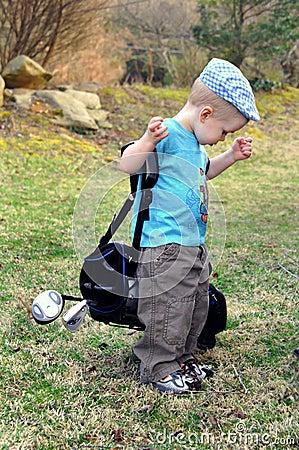 Budding golf pro