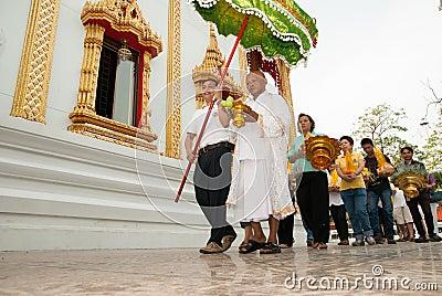 Buddistisk prästvigning Redaktionell Foto