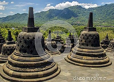 Buddyjska borobodur świątynia