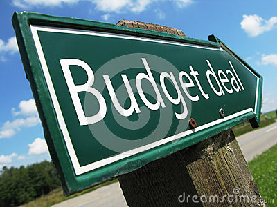 Budget deal road sign