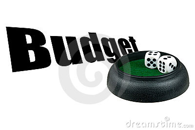 Budget gamble -  business risk concept