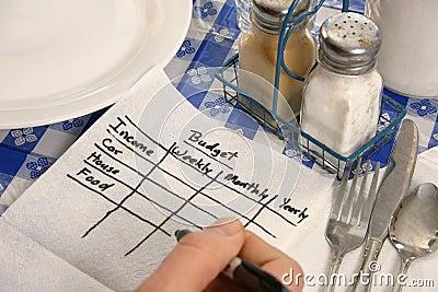 Budget on a napkin