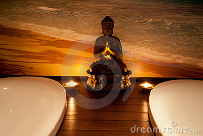 Budha in a SPA center