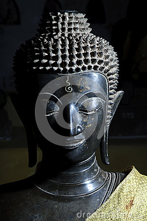 A budha statue in laos