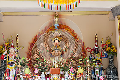 Budha with thousand arms
