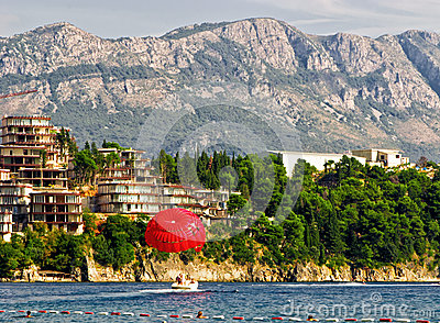 Budva landscape in Montenegro
