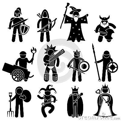 Buen carácter antiguo del guerrero