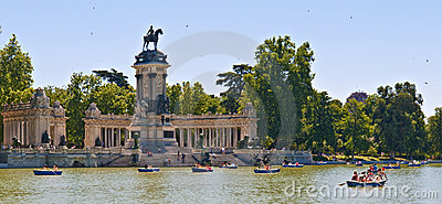Buen Retiro Park Editorial Stock Photo