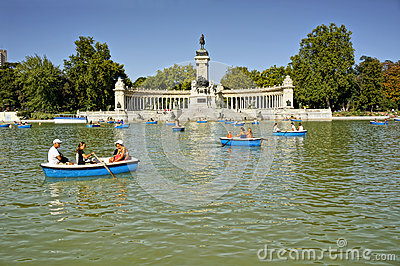 Buen Retiro Park, Madrid, Spain Editorial Photography