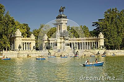 Buen Retiro Park, Madrid, Spain Editorial Stock Image