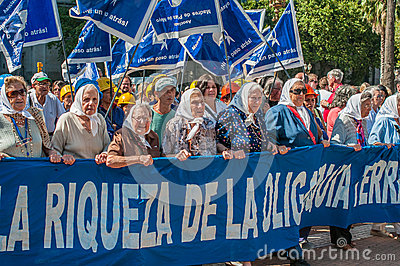 BUENOS AIRES, ARGENTINA - February, 26: Mothers of the Plaza de Editorial Stock Photo