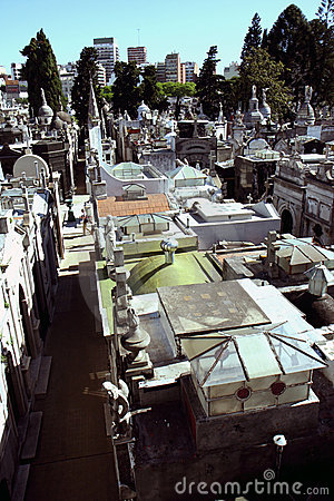 Buenos Aires cemetery view
