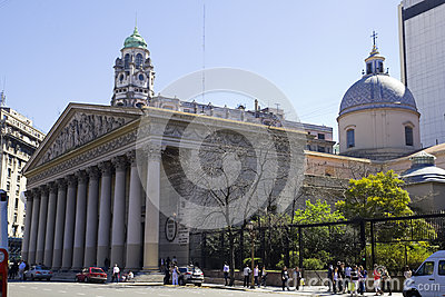 The Buenos Aires Metropolitan Cathedral Editorial Stock Photo