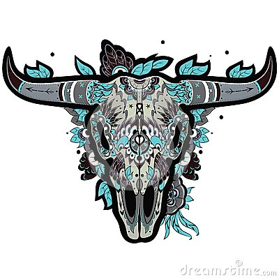 Free Buffalo Skull Cool Royalty Free Stock Images - 48314259
