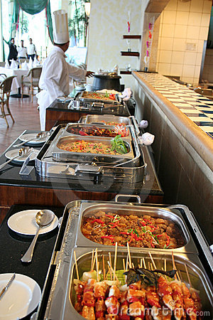Buffet au restaurant