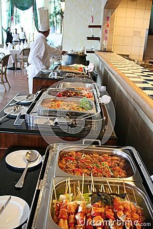 Buffet bij restaurant
