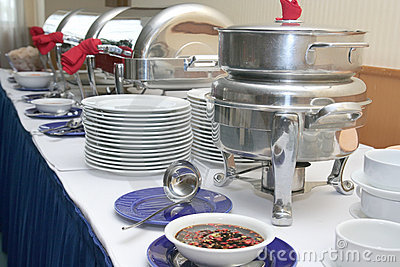 Buffet or catering industry