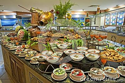 En image Buffet-de-salade-dans-un-restaurant-d-htel-de-luxe-16218137