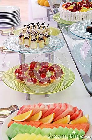 Buffet dessert dinner