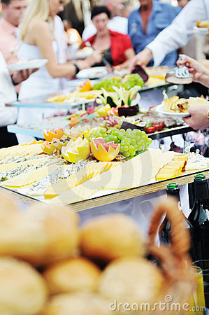 Free Buffet Food People Stock Photography - 10246742