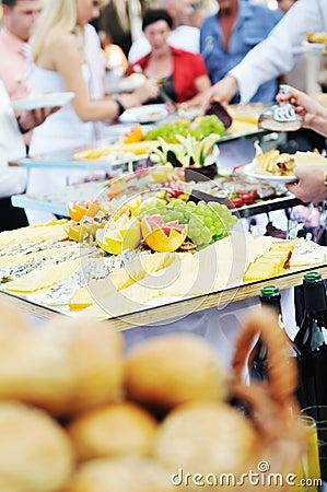 Buffet food people