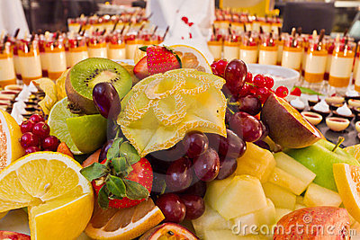 Buffet fruit dessert