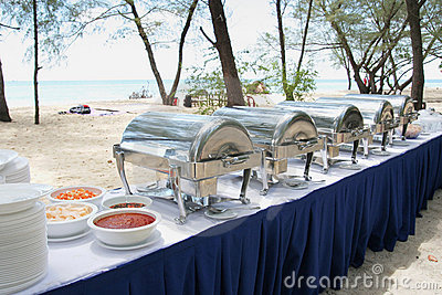 Buffet lunch in the island