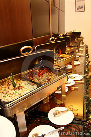 Free Buffet Restaurant At Hotel Royalty Free Stock Photography - 14246677