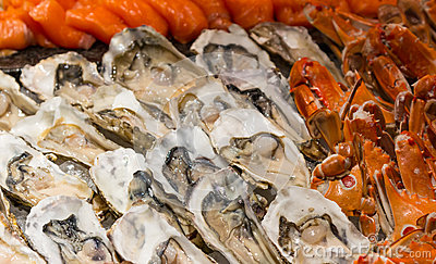 Buffet of seafood