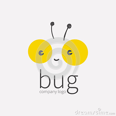 Free Bug Logo, Insect Icon.Smiling Cute Little Face, Kawai,linear Cartoon Tipster.Symbol For Company,for Digital And Print Stock Images - 85684924