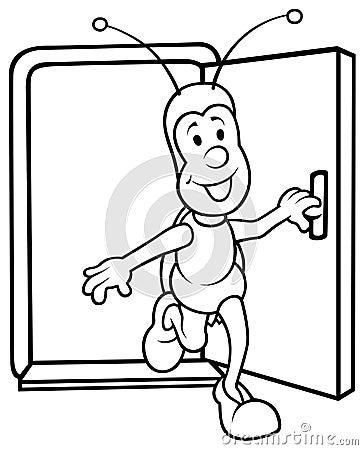 Bug and Open Door