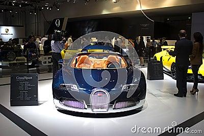Bugatti blue Editorial Stock Image