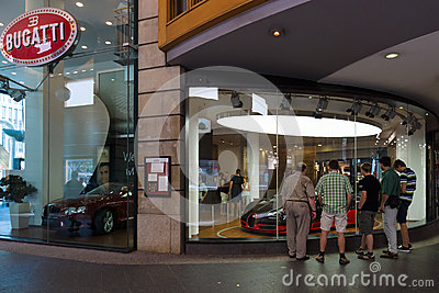 Bugatti dealership on Friedrichstrasse Editorial Photography